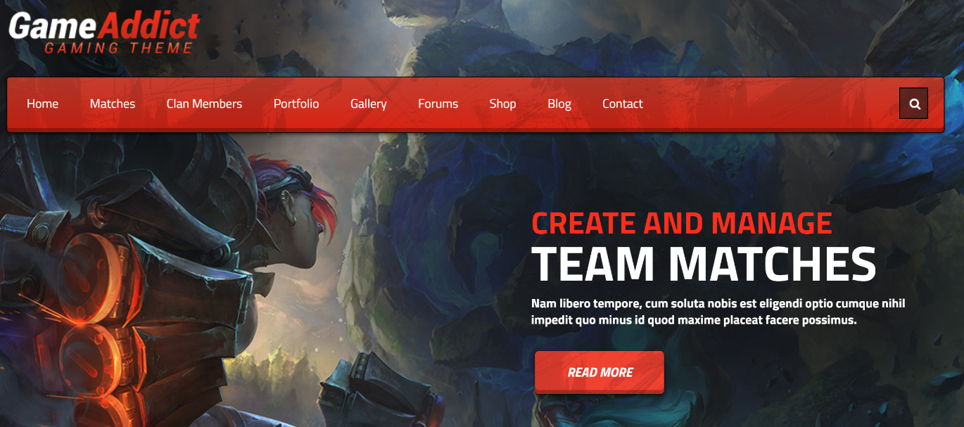 game addict wordpress themes