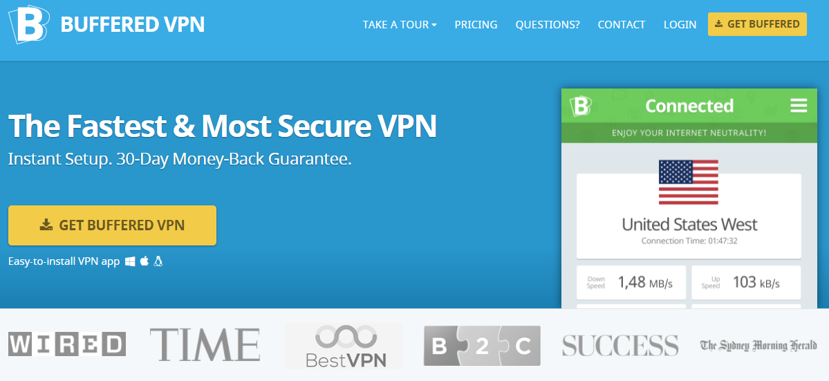 Buffered VPN - top vpn for china