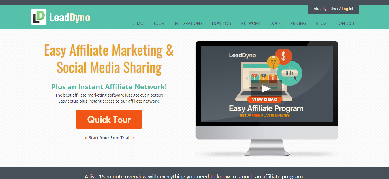 LeadDyno - Easy Affiliate Network