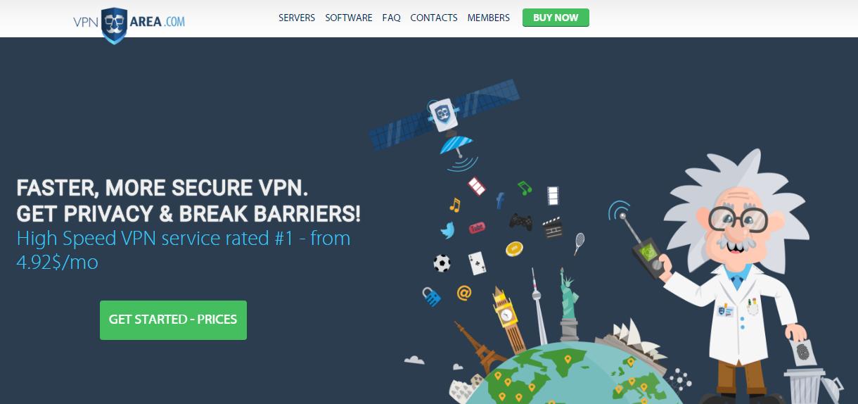 VPNArea - vpn service provider for Windows