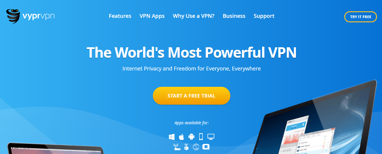 VyprVPN - Top vpn service for china