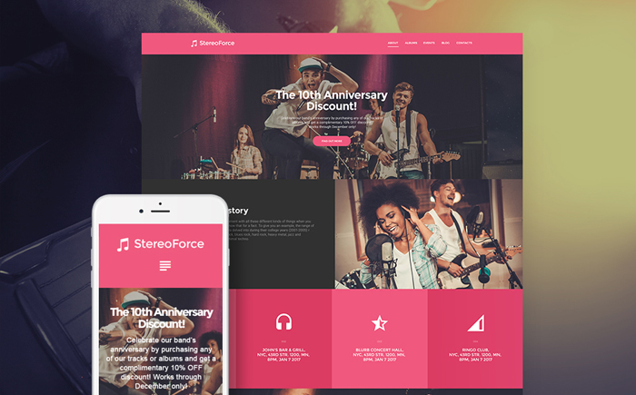 StereoForce  WordPress Theme