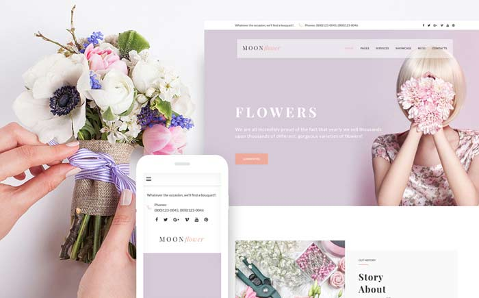 wer - Flower Shop WordPress Theme