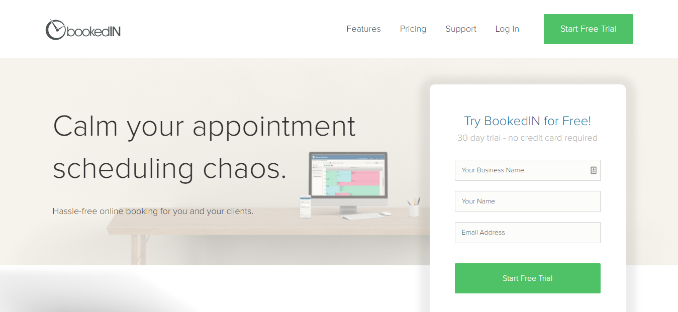 BookedIN - Best Online Appointment Scheduling Software