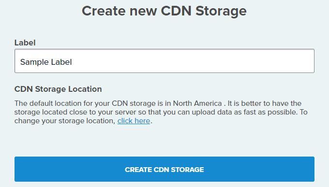 Create new storage - CDN77.com review
