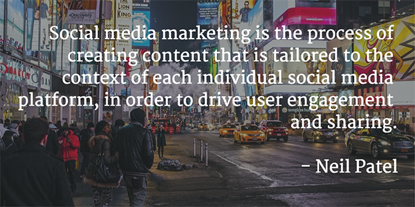 Neil-Patel-Quote - social media marketing