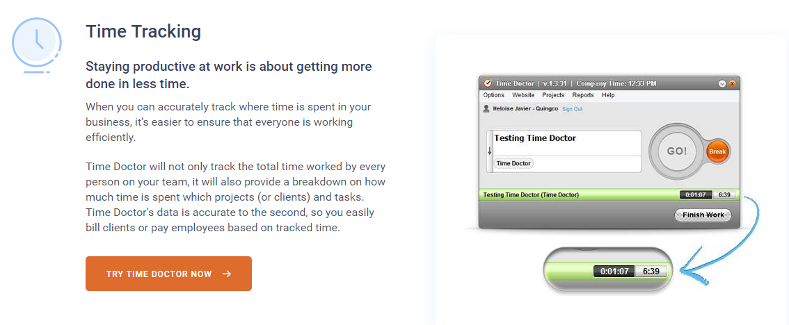 Time Doctor Review - Time Tracking