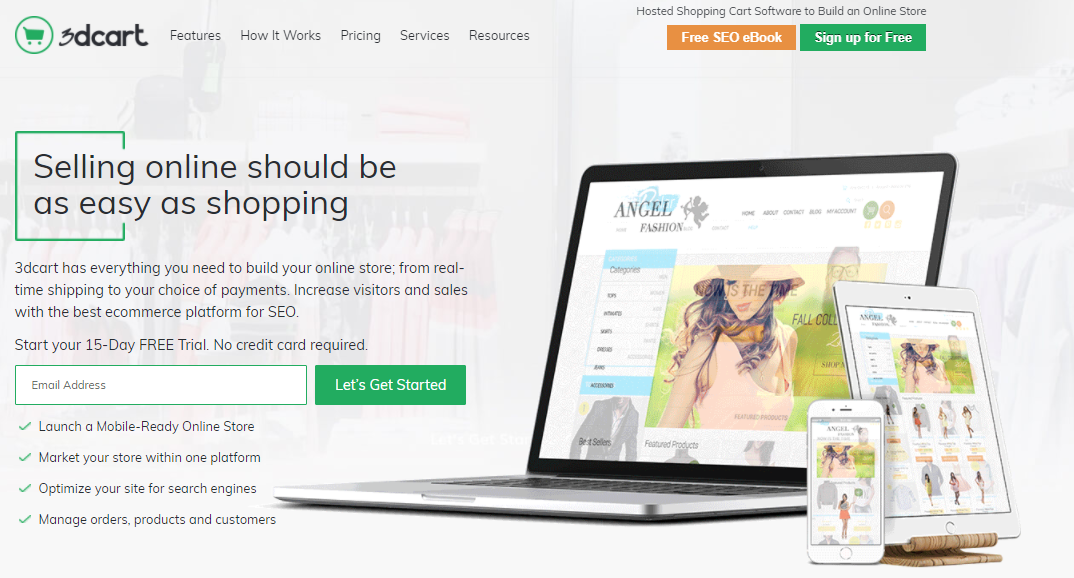 Shopify Alternative - eCommerce Software by 3dcart