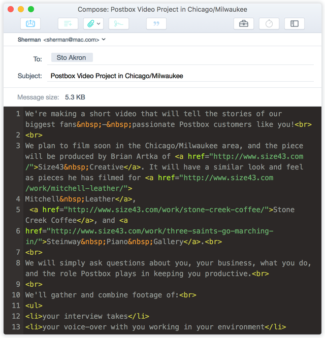 html-editor- postbox review
