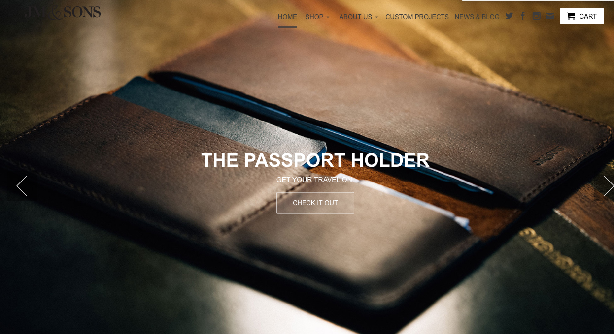 jm and sons - shopify store