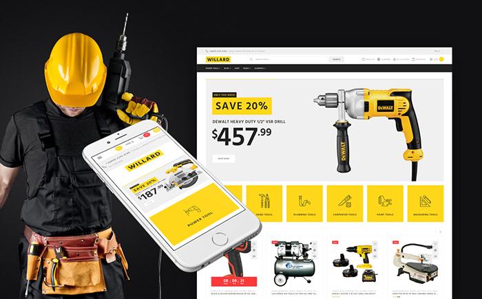 Willard - Tools & Hardware WooCommerce Theme