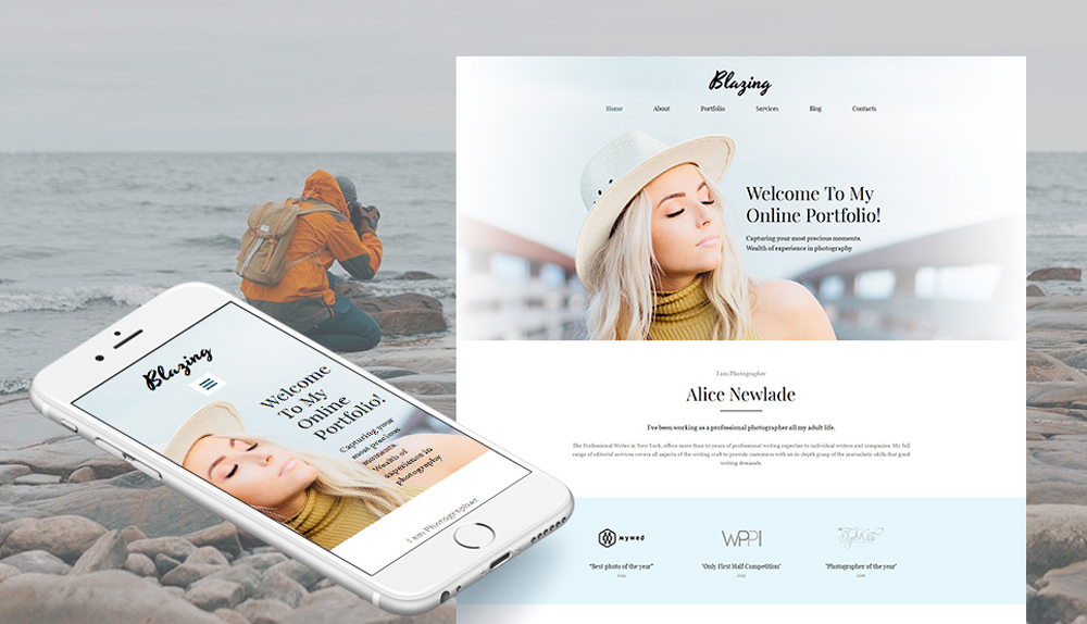 Excite the World with Your Unique Images with Photographer Portfolio Photo Gallery Template