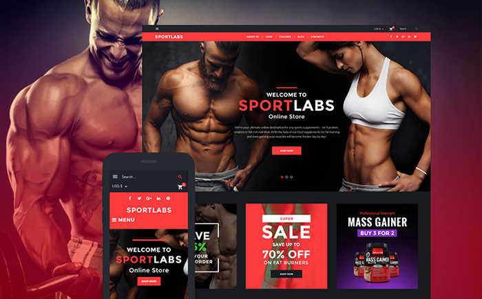 SportLabs WooCommerce Theme