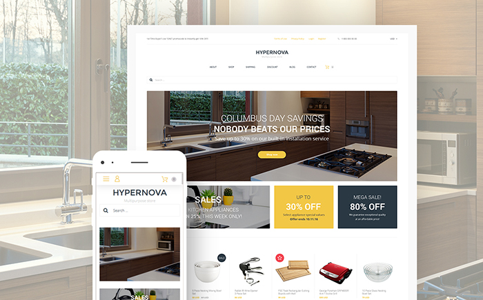 Hypernova - Multipurpose Store Responsive WooCommerce Theme