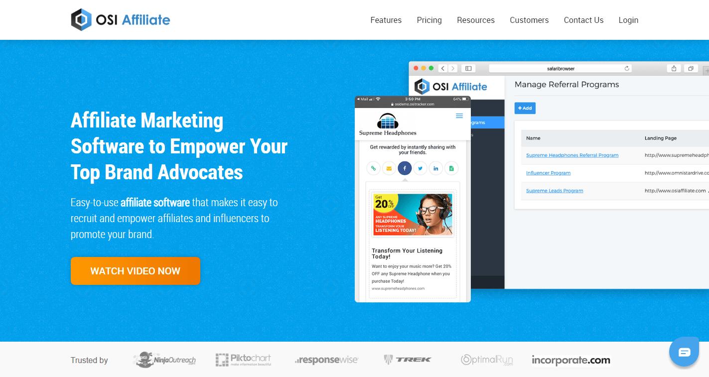 OSI Affiliate - best affiliate tracking software