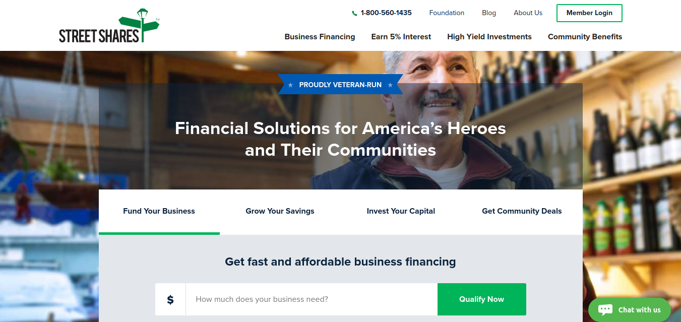 StreetShares Financing for Veteran Small Business Owners