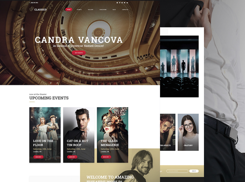 Classico - Theater Responsive WordPress Theme