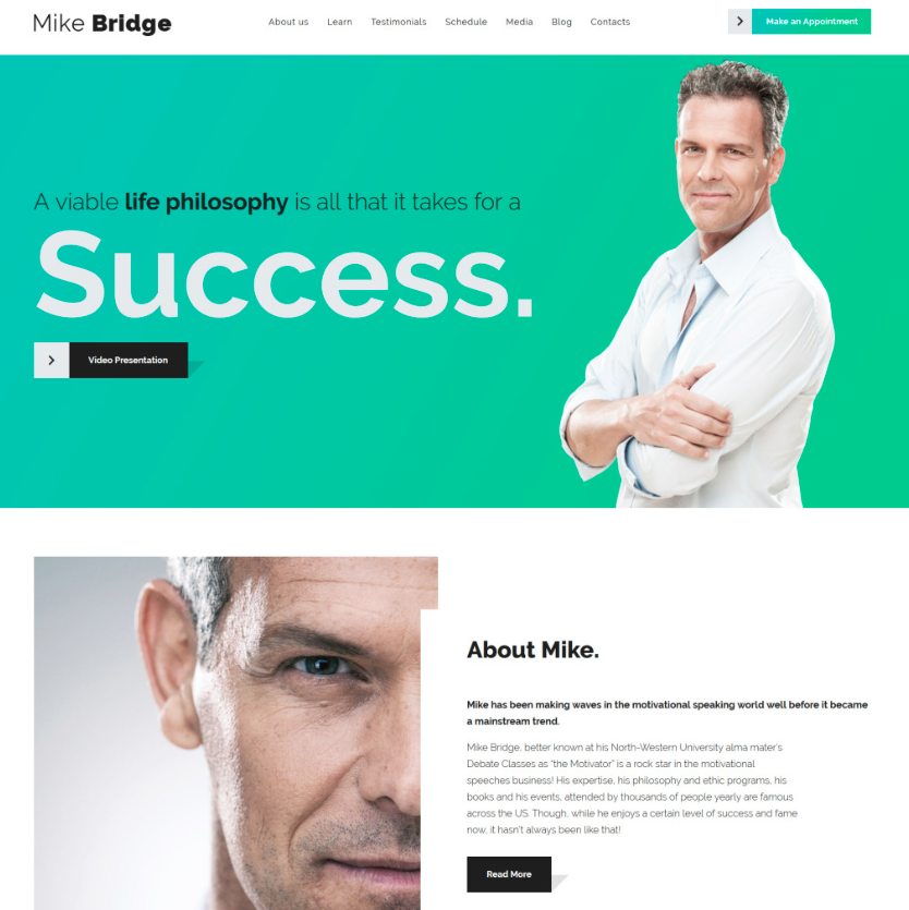 Mike Bridge - Motivational Coach WordPress Theme