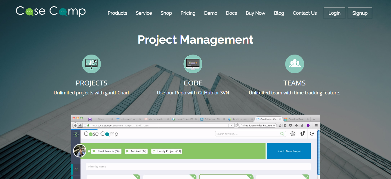 CaseCamp - Best Free Online Project Management Software Tool