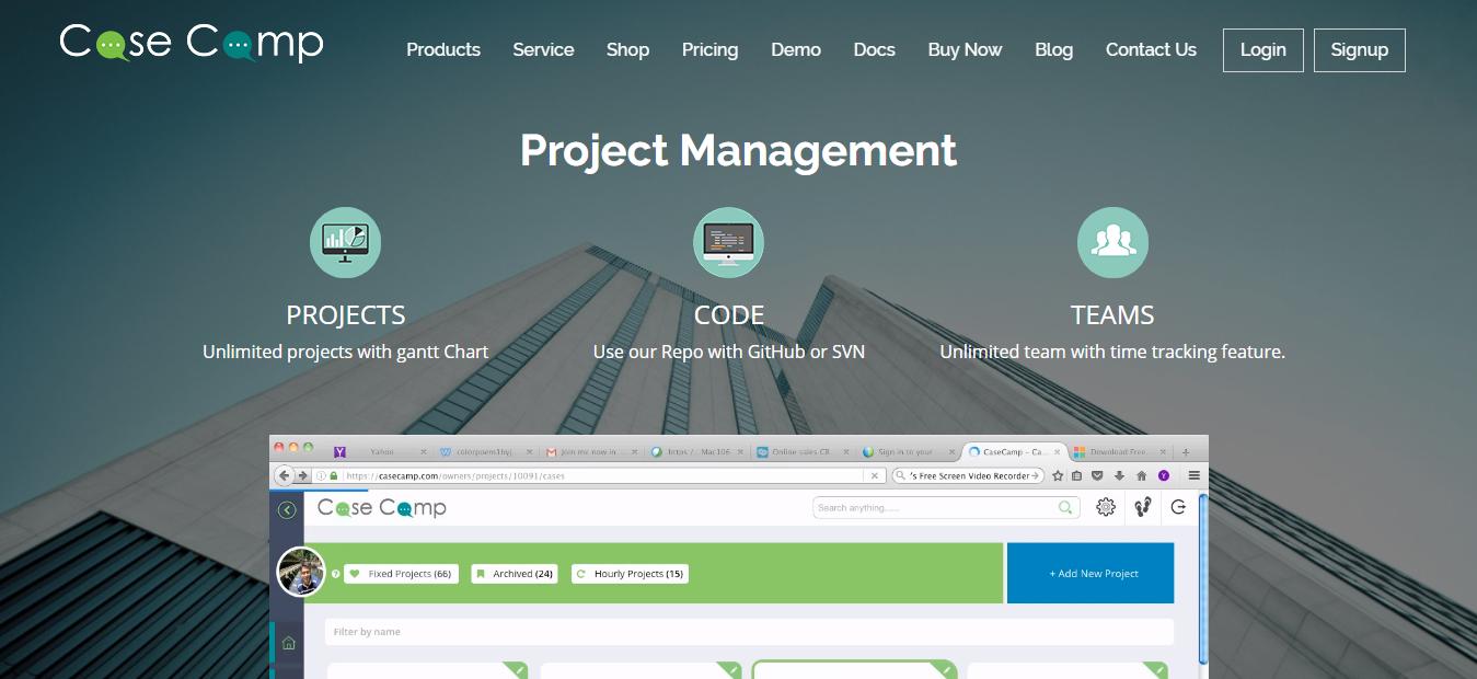 CaseCamp - Best Free Online Project Management Software Tool