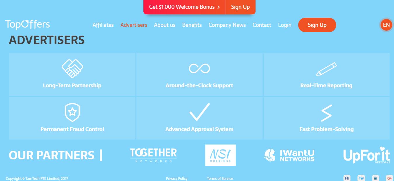 TopOffers Premium Affiliate Network