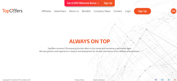 TopOffers Review -Premium Affiliate Network