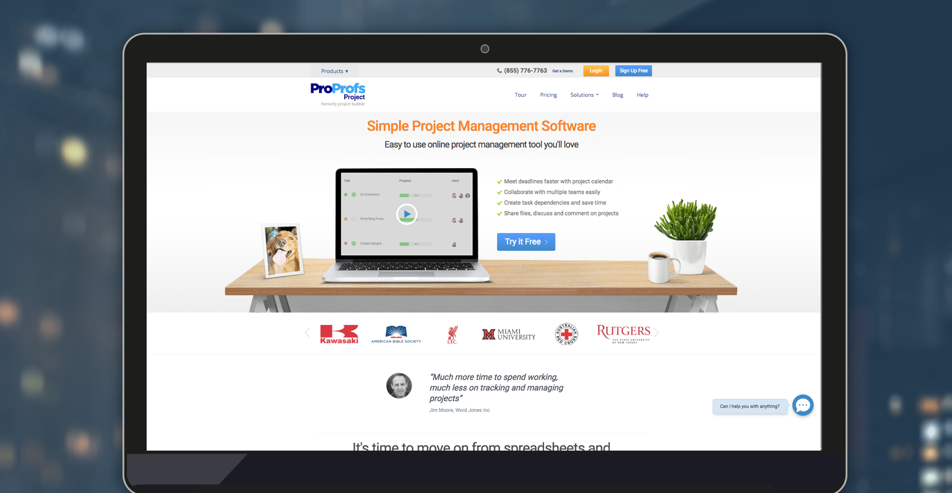 proprofs project management tools