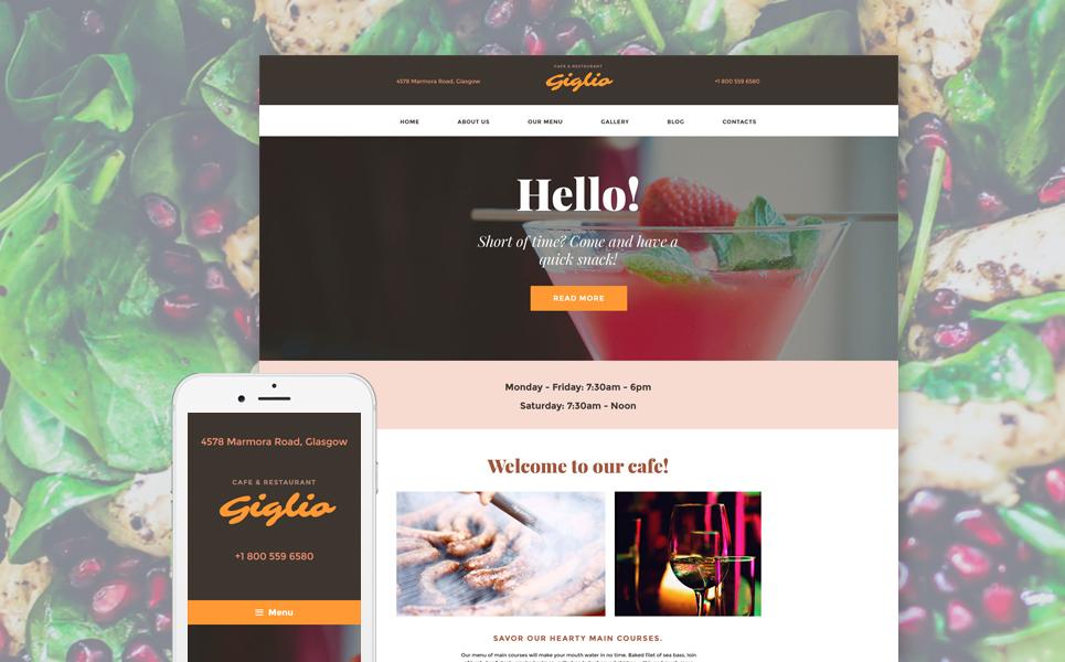 WordPress Theme for Cafe, Bar, or Restaurant