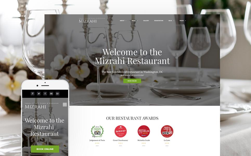 Kosher Restaurant WordPress Theme