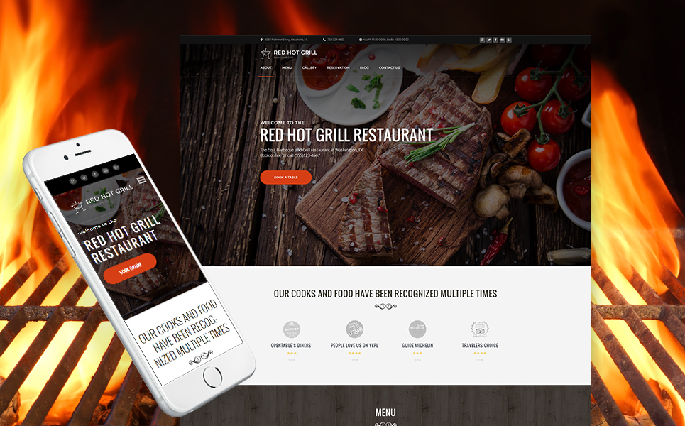 Grill Restaurant WordPress Theme