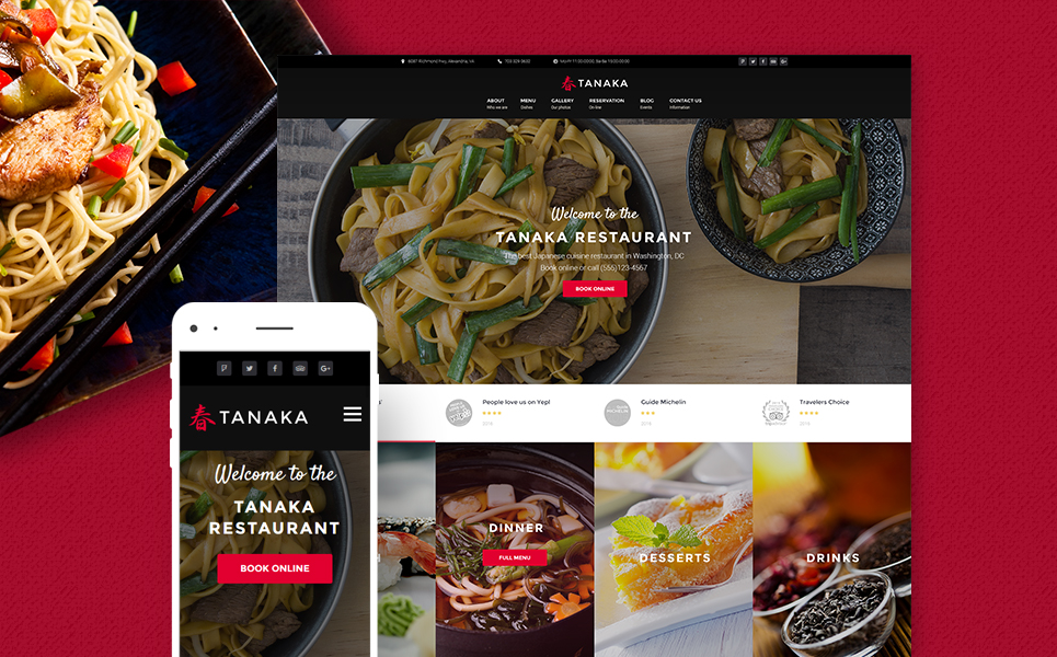 Japanese Restaurant WordPress Template