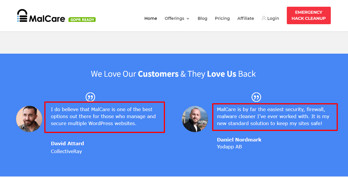 MalCare-customer reviews