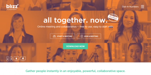 Blizz by TeamViewer A blazing fast solution for global online meetings
