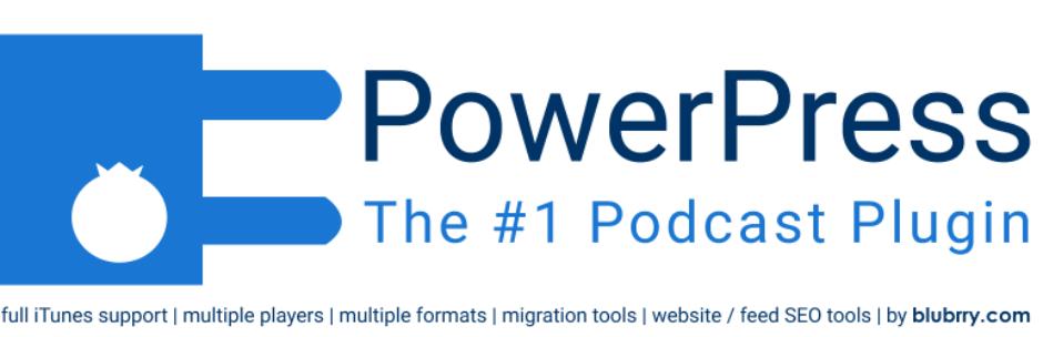 BluBrry Powerpress - Best WordPress Podcast Plugin