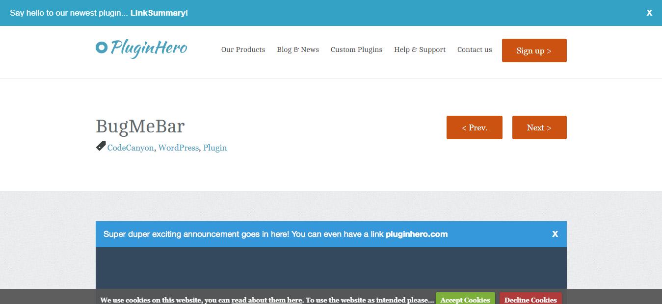 BugMeBar -WordPress Notification Plugin