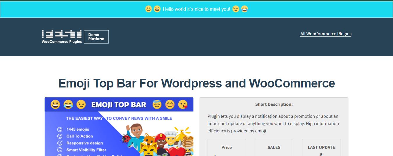 Emoji Top Bar -WordPress Notification Plugin
