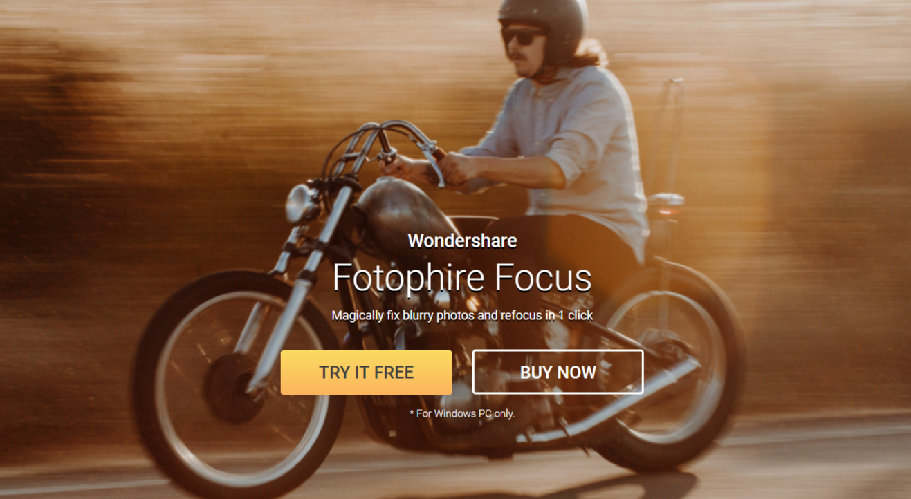 Fotophire Focus - Magically fix blurry photos and refocus