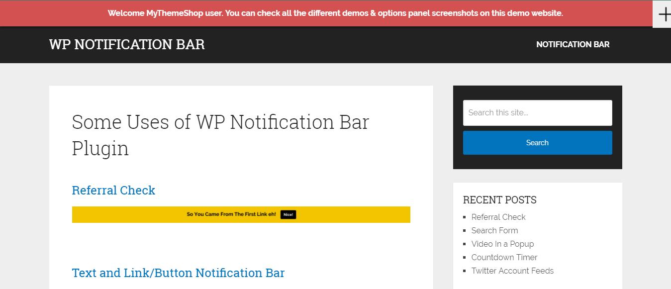 WP Notification Bar Theme -WordPress Notification Plugin