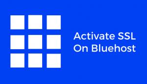 bluehost SSL process
