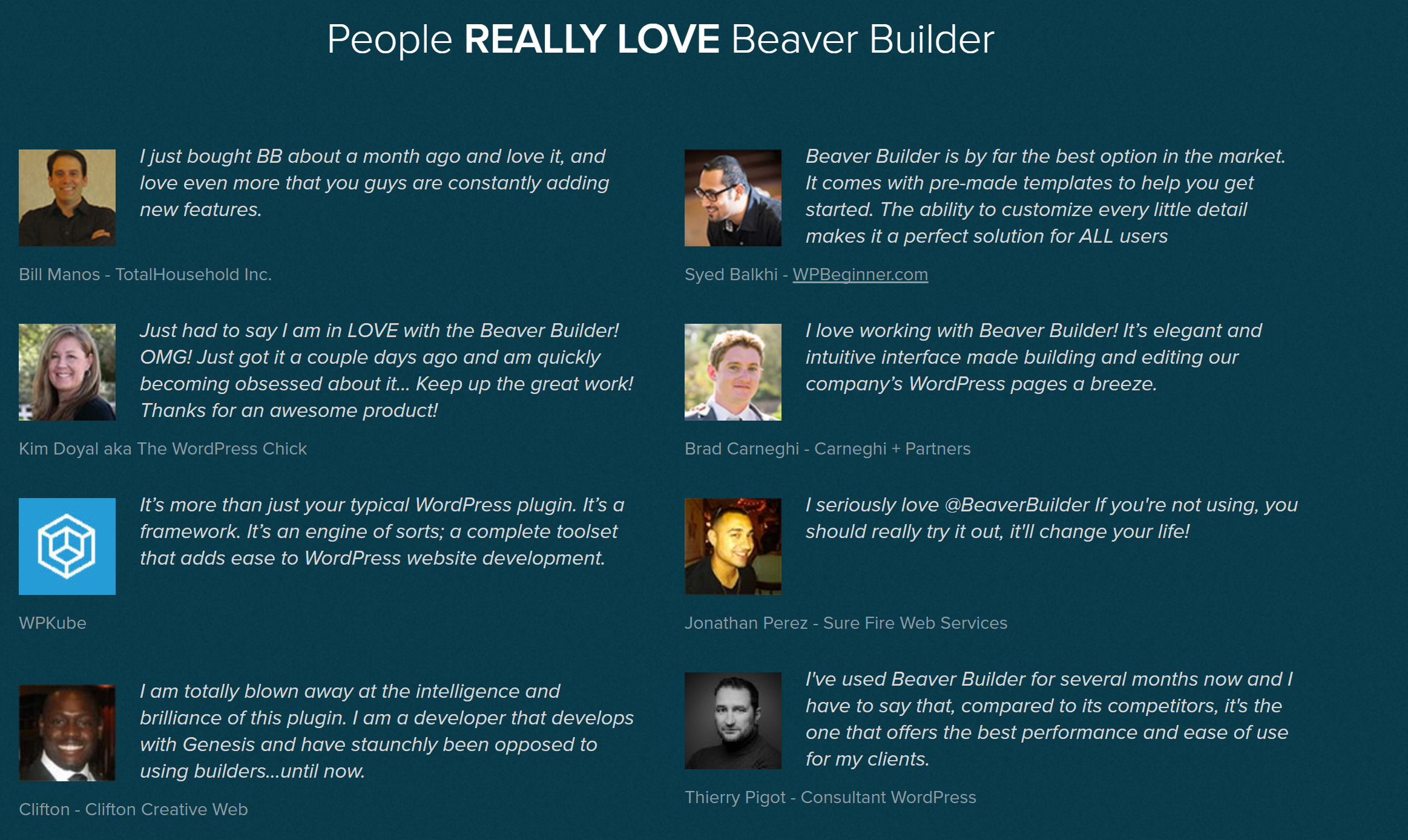 wpbeaverbuilder features