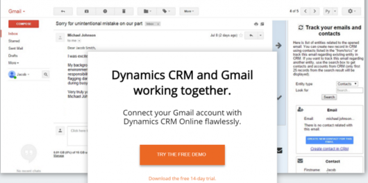 Akvelon - Dynamics CRM for Gmail