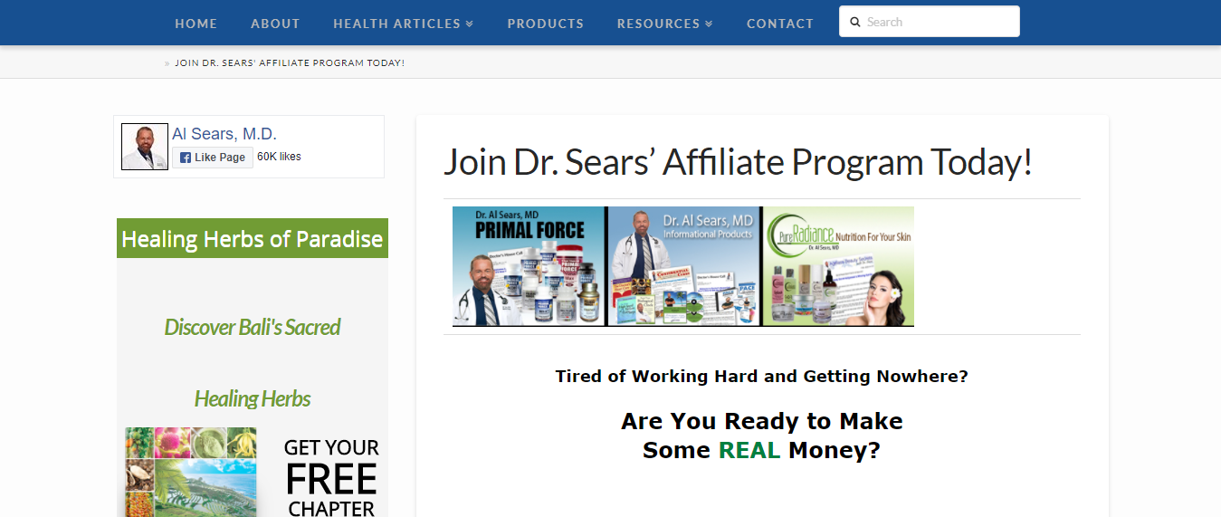 Al Sears MD - highest paying health affiliate programs