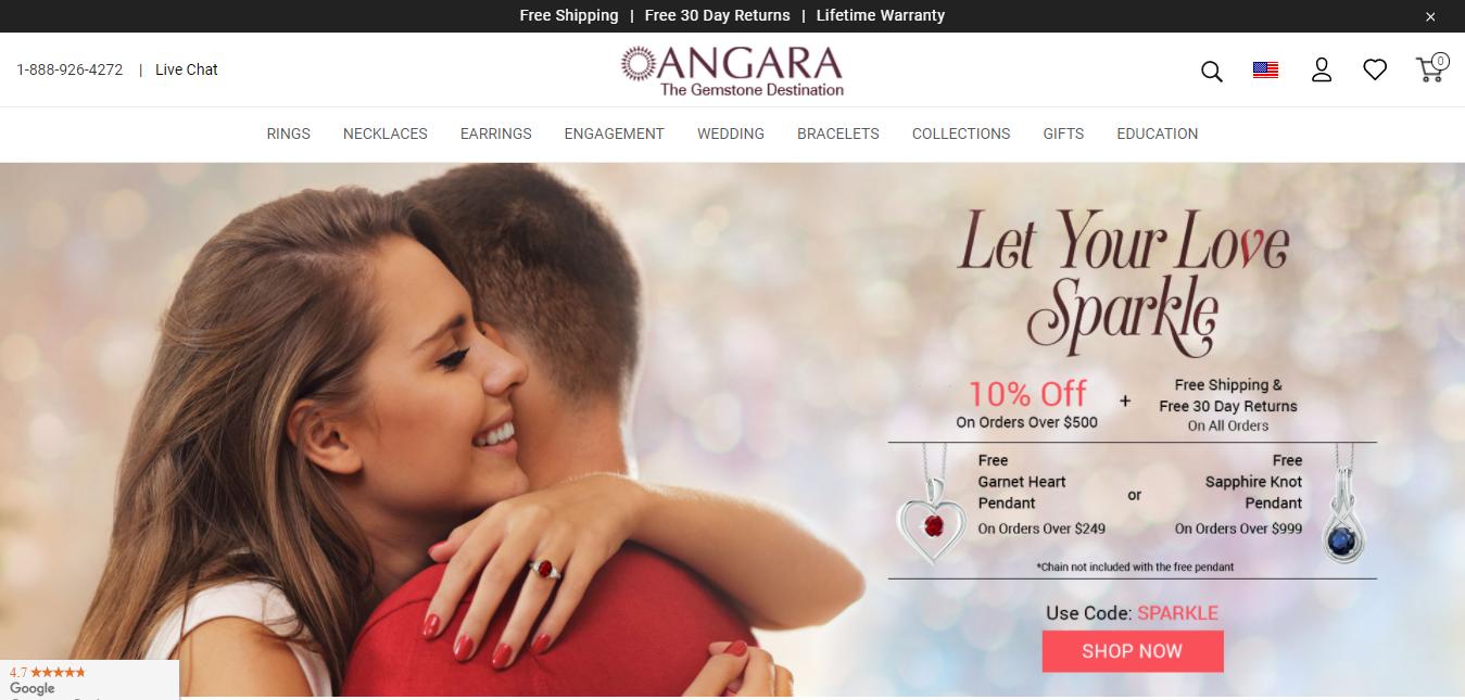 Angara - Jewellery Affiliates Program