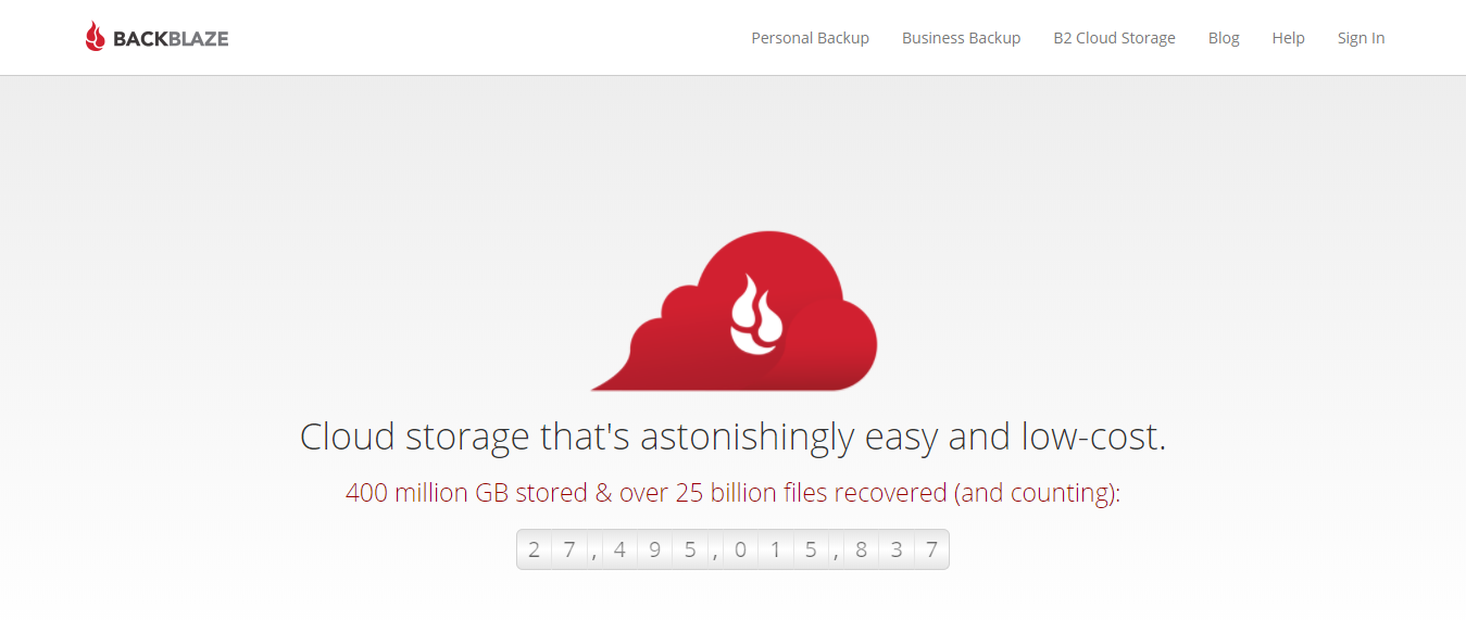 BackBlaze - Cloud Backup For Windows