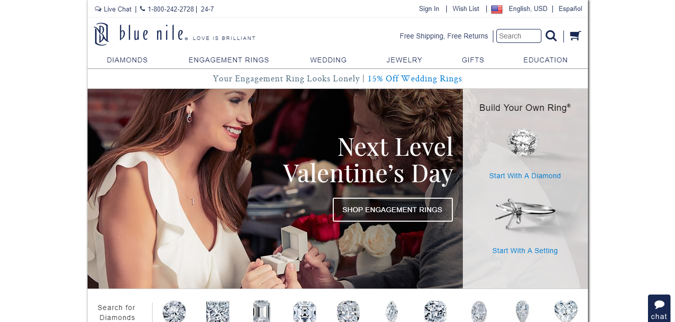 Blue Nile Diamond Jewelers - Jewellery Affiliates Program