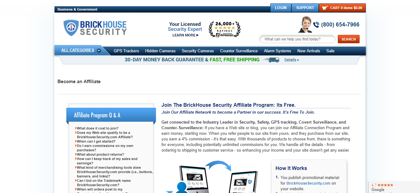 BrickHouse Security Spy Gear Affiliate