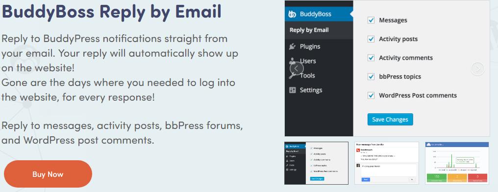 BuddyBoss Reply by Email - BuddyPress Plugin