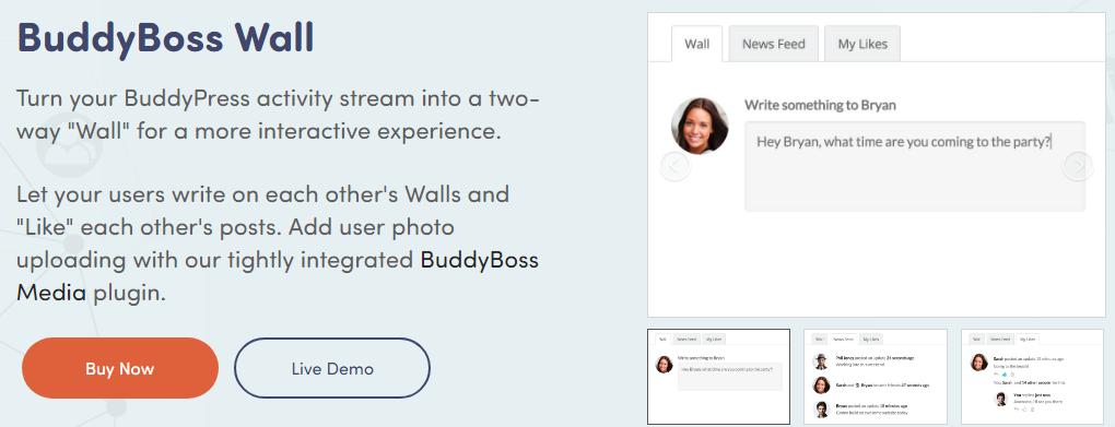 BuddyBoss Wall - BuddyPress Plugin