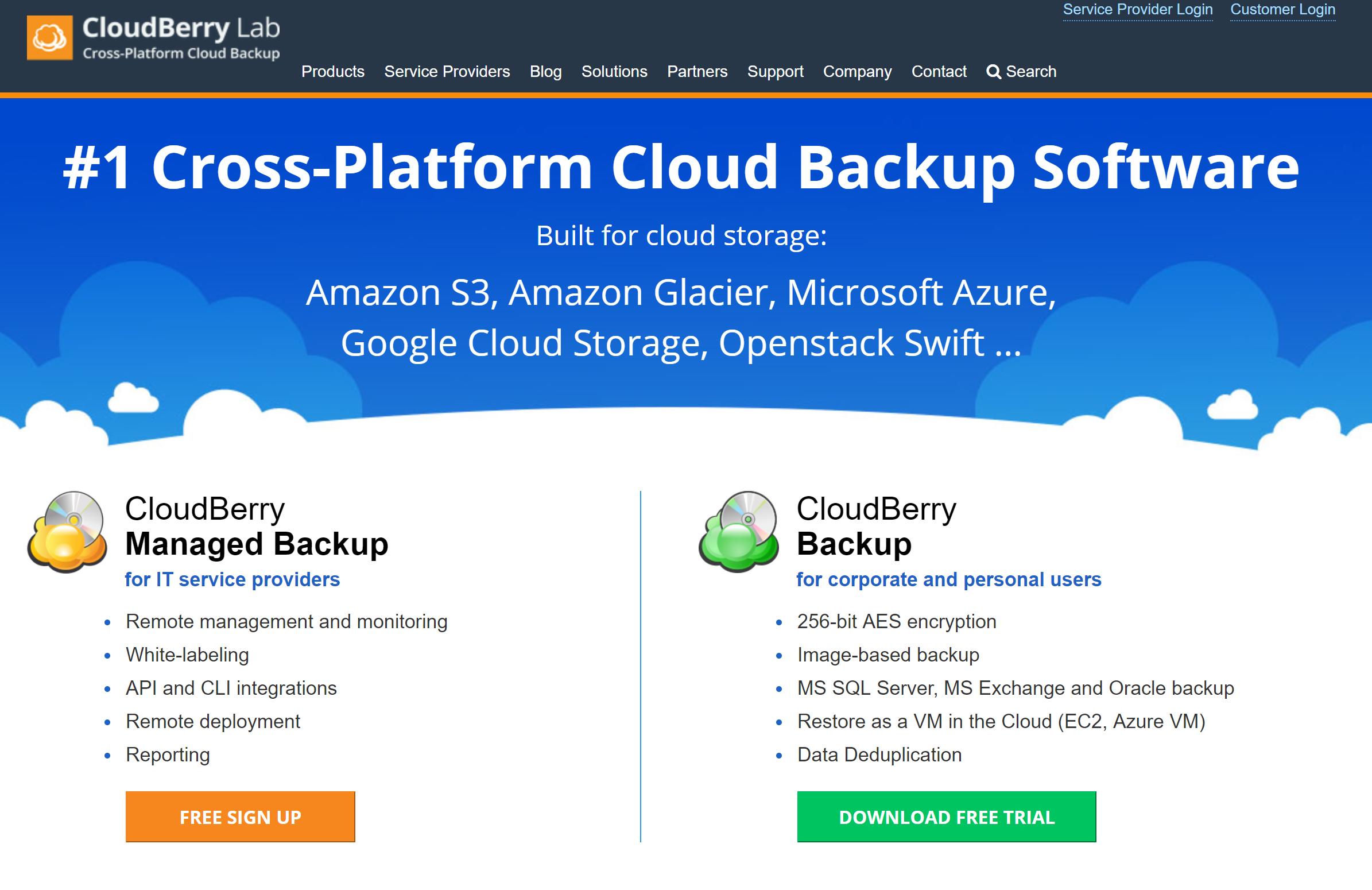 Cloudberry Cloud Backup Software