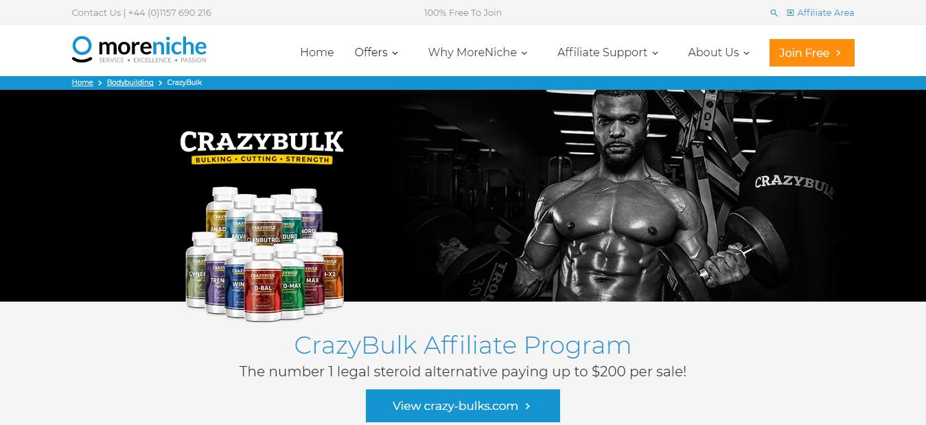 CrazyBulk - Sports Nutrition Affiliate Programs